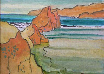Oregon Coast-1981 Oil - Milford Zornes