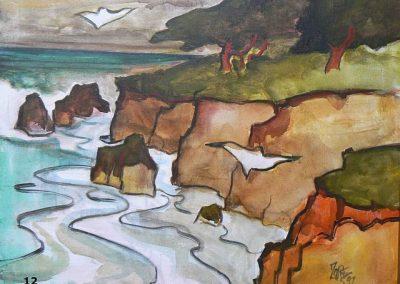 Cambria Coast-1997 Oil Milford Zornes