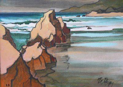Rocky Coast-1987 Oil - Milford Zornes