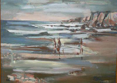 California Coast-1986 Oil - Milford Zornes
