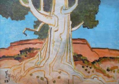 Tree in Utah-1994 Oil- Milford Zornes