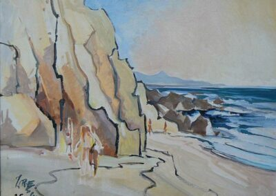 On The Beach-1982 Oil- Milford Zornes