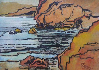 Rocky Coast-1964 - Oil-Milford Zornes