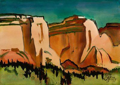 Milford Zornes-Untitled, Utah, 1997