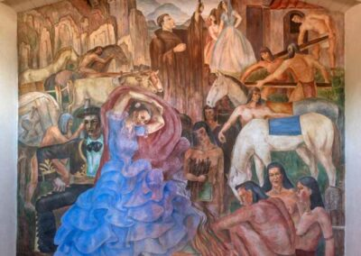 The restoration completed on the fresco. Ramona Pageant Fresco by Gene Sasse