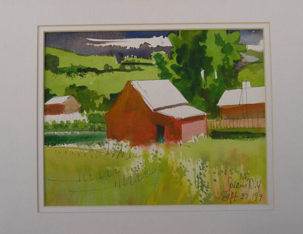 The Barn - Milford Zornes