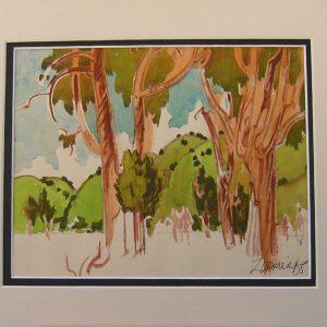 Trees of Nipomo - Milford Zornes